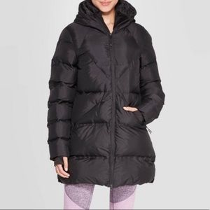 Champion Mid-Length Puffer Hooded Zip Up Jacket